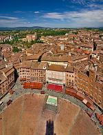 slides/IMG_4522P_1.jpg Italy, Tuscany, Siena, village, medieval, architecture, square, piazza, campo, tower, del mangia, palazzo, pubblico, history, sky, cloud, panorama, HDR IVC11 - Siena, Piazza del Campo from Torre del Mangia - Tuscany - Italy